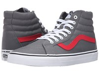 Vans Sk8 Hi Reissue Canvas Tornado Racing Red Skate Shoes Gray
