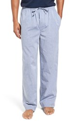 Nordstrom Men's Big And Tall Men's Shop Woven Lounge Pants Blue Oxford Dobby