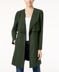 Inc International Concepts Draped Trench Coat Only At Macy's Venetian Moss
