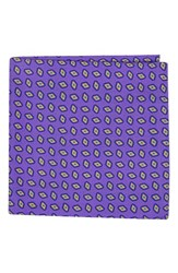 Ted Baker Men's London Neat Plaid Double Sided Silk Pocket Square Plum