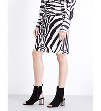 Topshop Unique Super High Waist Zebra Print Ponyskin Skirt