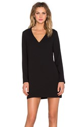 1. State Long Sleeve Shift Dress With Double Bar Back Black