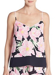 French Connection Floral Print Camisole Utility Blue Multi