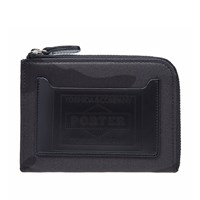 Porter Yoshida And Co. Camo Half Zip Wallet Black