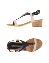 Rosamunda Thong Sandals Dark Brown
