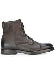 Henderson Baracco Lace Up Ankle Boots Brown