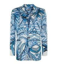 Billionaire Printed Silk And Cotton Jacket