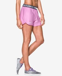 Under Armour Play Up Shorts Verve Violet White