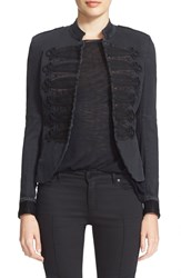 Superfine 'Jimi' Stretch Cotton Jacket Black
