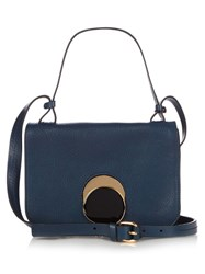 Marni Pois Leather Cross Body Bag Navy