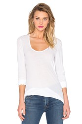 James Perse Stretch Jersey U Neck Tee White