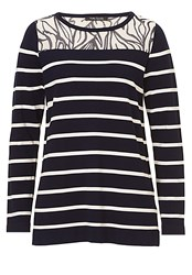 Betty Barclay Graphic Striped Jumper Navy