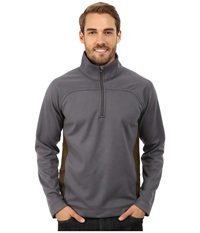 Royal Robbins Cannon 1 2 Zip Obsidian Men's Long Sleeve Pullover Brown