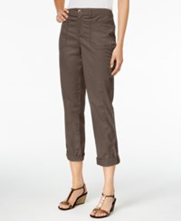 Styleandco. Style Co. Cuffed Slim Leg Pants Only At Macy's Brown Clay