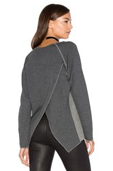 Nation Ltd. Rosemary Cross Back Sweatshirt Charcoal