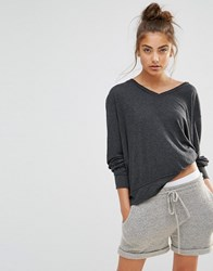 Wildfox Couture Baggy Beach V Neck Jumper Clean Black