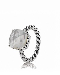 Pandora Design Pandora Ring Sterling Silver And Mother Of Pearl Sincerity