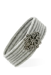 Forever 21 Beaded Front Headwrap Heather Grey