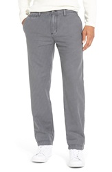 1901 'Bainbridge' Flat Front Print Chinos Grey Magnet