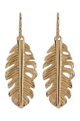 Melinda Maria Mini Nina Feather Earrings Metallic