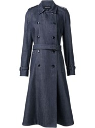 Vanessa Seward Denim Trench Coat Blue