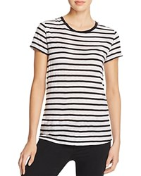 Splendid Cerine Stripe Tee White Black