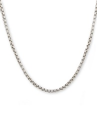 Lord And Taylor Mens Sterling Silver Box Chain