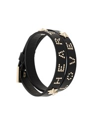 Red Valentino 'Love' Bracelet Black