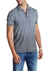 Lucky Brand Stripe Polo Blue