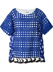 Tsumori Chisato Broderie Anglaise Wave Top Blue