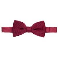 John Lewis Knitted Silk Bow Tie Beetroot