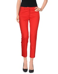 Victoria Beckham Casual Pants Red