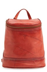 Frye 'Small Campus' Leather Backpack Red Burnt Red