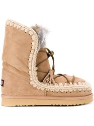 Mou 'Eskimo Dream Lace Up' Boots Brown