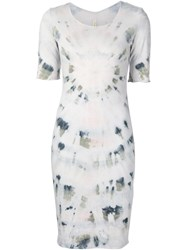 Raquel Allegra Tie Dye Knitted Dress White