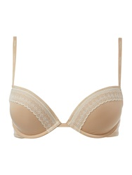Calvin Klein Perfectly Fit Sexy Signature Flirty Push Up Ivory
