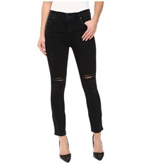A Gold E Sophie Crop In Portlant Destructed Portland Destructed Women's Clothing Black