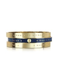 See By Chlo Set Of 3 Bangle Bracelets
