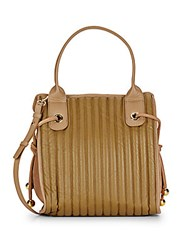 See By Chloe Convertible Leather Drawstring Crossbody Bag Military