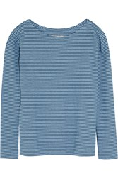 Mih Jeans The Bretonic Striped Cotton Top Blue