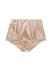 Dolce And Gabbana Satin And Lace High Waisted Briefs