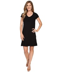 Mod O Doc Heavier Slub Jersey Short Sleeve Dress Black Women's Dress