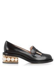 Nicholas Kirkwood Casati Pearl Heeled Leather Loafer Black
