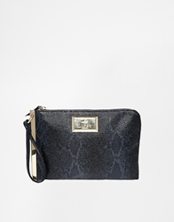 Lipsy Zip Side Clutch Bag Navy
