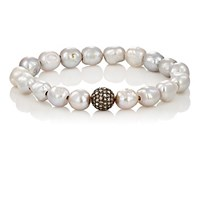 Devon Page Mccleary Women's White Diamond And Pearl Bracelet No Color