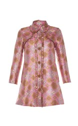 Manoush Baroque Embroidered Coat Pink