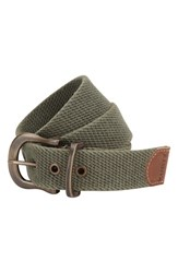 Men's A. Kurtz 'Caleb' Web Belt Military