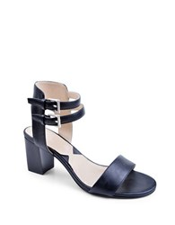 Adrienne Vittadini Palti Nappa Leather Sandals Black