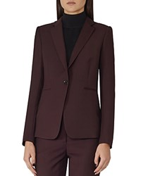 Reiss Ricca Tailored Blazer Plum