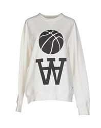 Wood Wood Woodwood Topwear Sweatshirts Women White